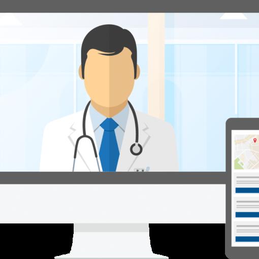 telemedicine on desktop tablet and smartphone